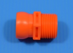 69545-ORG Orange 3/4th MPT x 3/4 Loc-Line Ball - Loc-Line-007-3/4-Inch