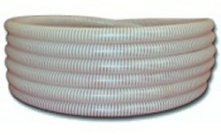 "50ft x 1"" white/clear FlexPVC® brand flexible PVC pipe. COO:USA - 3 Flex PVC Pipe 1 inch"