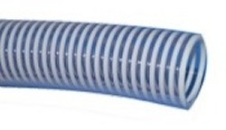 "2"" WHITE/CLEAR, custom length FlexPVC® brand flexible PVC pipe. - Flex PVC By The Foot CLEAR"