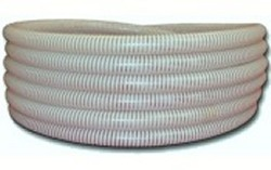 "50ft 1.5"" CLEAR/WHITE FlexPVC® brand flexible PVC pipe. COO:USA - 5 Flex PVC Pipe 1-1/2 inch"