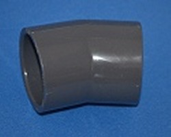 "816-015 Sch 80(GRAY)22.5° elbow for 1.5"" pipe, slip x slip COO:USA - PVC-Fittings-Sch80"