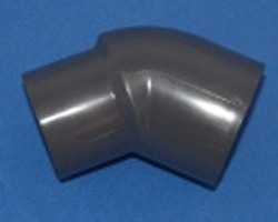 827-010 Sch 80 (GRAY) 1 inch Spigot 45° elbow - PVC-Fittings-Sch80