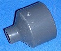 "829-247 Sch 80 (GRAY) 2"" x 1/2"" reducing couple COO:USA - PVC-Fittings-Sch80"