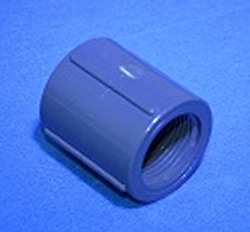 "830-005 1/2"" couple FPT (female NPT) x FPT Sch 80 part COO:USA - PVC-Fittings-Sch80"