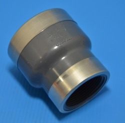 830-251SR Sch 80 (GRAY) Reducing couple 2 FPT x 1.5 FPT COO:USA - PVC-Fittings-Sch80
