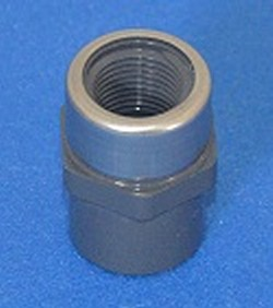 "835-002SR Sch 80 1/4"" Female Adapter GRAY with Stainless Ring - PV"