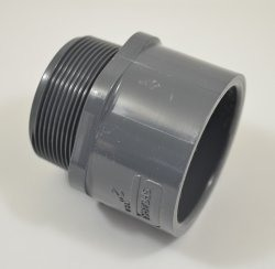 "836-010 Sch 80 Gray 1"" Male Adapter GRAY COO:USA - PV"