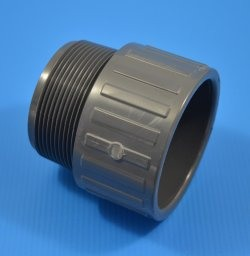 "836-030 Sch 80 Gray 3"" Male Adapter COO:USA - PV"
