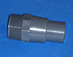 "1.25 MPT x 1"" spigot - PVC-Nipples-Reducing-TOE"