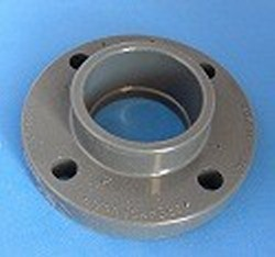851-007 3/4 inch socket solid flange - PVC-Flanges-Solid