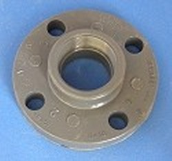 "852-030 3"" FPT (female NPT) solid flange COO:USA - PVC-Flanges-FPT"