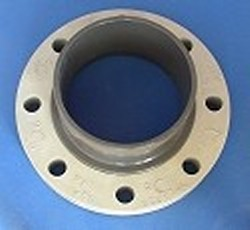 6254-160 160mm Metric Flange with multi-bolt pattern, COO:USA - PVC-Fittings-Metric-Adapters