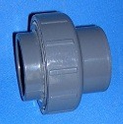 8257-020 JIS 20mm Nominal (26mm actual) x 3/4 inch Union COO:USA - PVC-Fittings-Metric-Adapters