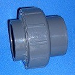 657-032 DIN 32mm x DIN 32mm UNION, (FKM,Viton Seal) - PVC-Fittings-Metric-Fittings