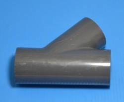 875-080 PVC-8inch 45 degree wye (Spears) Sch 80 (GRAY) part - PVC-Fittings-Wyes-45degree