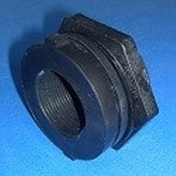 "OLD STYLE, currently out of stock. 9310-TT Poly 1"" FPT - Bulkhead-Fittings-Polypropylene"