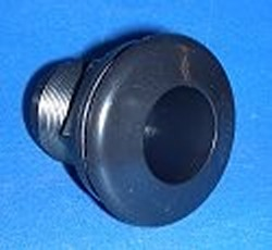 9105-ST ABS BLACK SLIP x FPT (female NPT) 1/2 inch Bulkhead Fitting - Bulkhead-Fittings-Economy