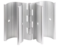 Aluminum Hinge. Snaps over 1 PVC Pipe. - PVC-Fittings-Snap-Clamps
