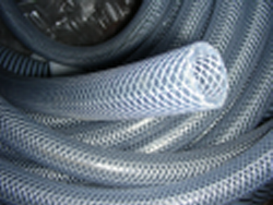 100' 1/2th ID x 3/4 OD braided hose - Clear-Braided-Hose-ByTheRoll