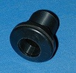 9105-TS ABS BLACK 1/2 FPT (female NPT) x 1/2 socket Bulkhead Fitting - Bulkhead-Fittings-Economy