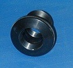 9110-TS ABS BLACK 1 FPT (female NPT) x 1 SLIP Bulkhead Fitting COO:USA - Bulkhead-Fittings-Economy-ABS
