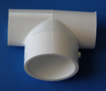 401-169-L 1.25 x 1.25 x 1.5 Bullhead Tee COO: China - PVC-Fittings-Tees-Bullhead