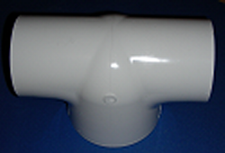 401-342 3 x 3 x 4 Bull Head T COO:USA - PVC-Fittings-Tees-Bullhead
