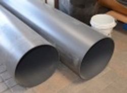 "DEFORMED Gray Nominal 20"" duct pipe by the foot LIMITED STOCK - PVC-PIPE-DUCT-Thinwall"