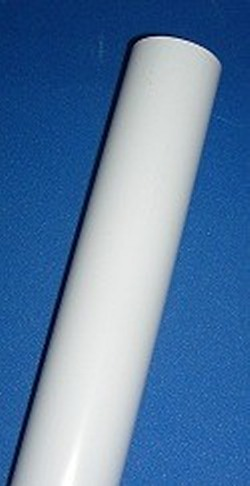 1.25 White Furniture Grade Glossy Sch 40 .14 WALL Custom Length - PVC-PIPE-GlossyWhite-FG