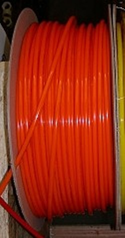 JG Brand 1/4 inch Polyethylene tubing BY THE FOOT ORANGE - JG-Polyethylene-Tubing-BTF