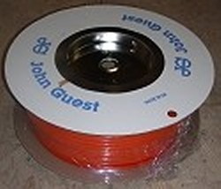 "JG Brand 1/4"" Polyethylene tubing ORANGE 500 ft roll COO:UK - JG-Polyethylene-Tubing-Rolls"