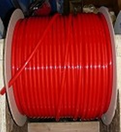 JG Brand 3/8 inch Polyethylene tubing BY THE FOOT RED - JG-Polyethylene-Tubing-BTF