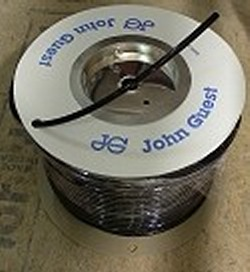 "JG Brand 3/8"" Polyethylene tubing BLACK UV rated 500 ft roll COO:UK - JG-Polyethylene-Tubing-Rolls"