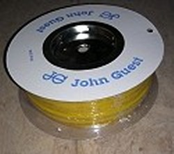 "JG Brand 3/8"" Polyethylene tubing YELLOW 500 ft roll COO:UK - JG-Polyethylene-Tubing-Rolls"