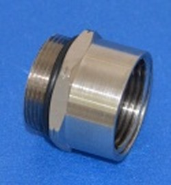 32M100F 32mm Metric Male to 1 inch FPT Aluminum COO: USA - PVC-Fittings-Metric-Adapters