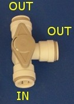 John Guest Fitting NC2391-RH Diverter Valve 1/2 CTS - JG-Fittings-Valves
