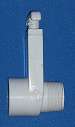 0434-15 1.5 MPTx1.5 FPT (female NPT) Gate Knife Blade Valve - PVC-Valves-Gate