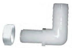 "NTL38 Spray Boom Elbow Nylon, 3/8"" x 11/16"" Straight Thread COO:USA - Bulkhead-Fittings-Barbed"