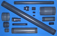 775-060370 1 X 10 PVC Sch 80 (GRAY)COO:USA - PVC-Nipples-1NPT
