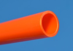 "ORANGE Thinwall (.075"") 1/2"" PVC Pipe Glossy  - PVC-PIPE-Colors-Thinwall"