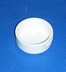 P116-015 Shallow Flat Cap 1.5 inch - PVC-Fittings-Caps-Flat
