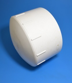 P116-080 Shallow Cap 8 inch COO:USA - PVC-Fittings-Caps-Flat