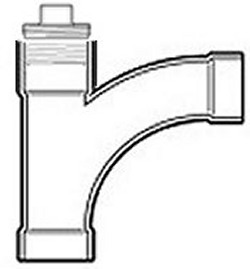 P303-020 Cleanout Combo Wye (constructed fitting) - PVC-DWV-Fittings-LongSweepTees