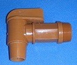 PEDF75 Drum Faucet Brown 3/4 MPT - PVC-Valves-Drum