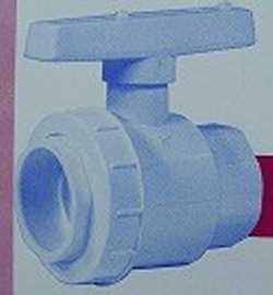 "PS4-015 1.5"" single union BV - PVC-Valves-Ball-Valves-SingleUnion"