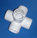 425-015C 1.5 inch 5 way Furniture Grade - PVC-Fittings-5-ways-side-outlet-Cross