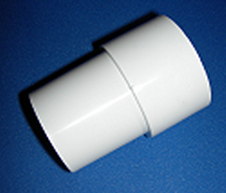 418-1000 Sch 40 1/2 inch INSIDE Pipe Extender (aka PX-05, PX05) - PVC-Fittings-PipeRepair-Extenders