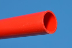 "RED Thinwall (.075"") 1/2"" PVC Pipe Glossy  - PVC-PIPE-Colors-Thinwall"