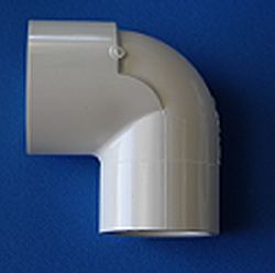 406-292N 2 slip x 2.5 slip 90 elbow COO:USA - PVC-Fittings-Elbows-Reducing-90
