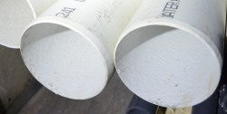 CL63 aka SDR41 8 inch Super UltraThin VERY LOW STOCKWall PVC Pipe - PVC-PIPE-Class63